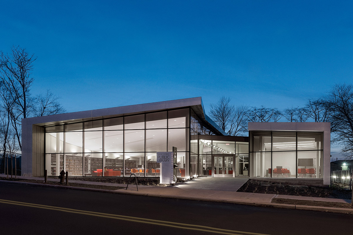 PT Architecture: Mariners Harbor Library (Photo: Courtesy of A*PT ... Open Oyster Shell With Pearl